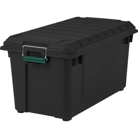 Remington® 82 Quart WEATHERTIGHT Storage Box, 4 Pack, Black