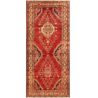 Handmade One-of-a-Kind Hamadan Wool Runner (Iran) - 4'8 x 10'