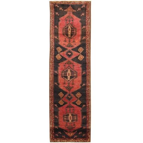 Handmade One-of-a-Kind Hamadan Wool Runner (Iran) - 3'7 x 12'6