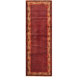Handmade One-of-a-Kind Hamadan Wool Runner (Iran) - 3'6 x 10'