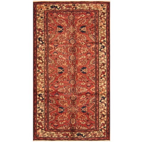 Handmade One-of-a-Kind Heriz Wool Rug (Iran) - 5'3 x 9'7