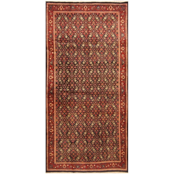 Handmade One-of-a-Kind Mahal Wool Rug (Iran) - 5' x 10'5