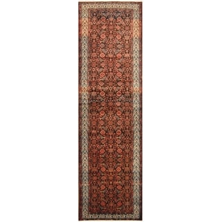 Handmade One-of-a-Kind Hamadan Wool Rug (Iran) - 3'8 x 12'6