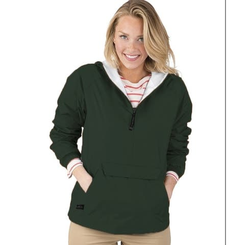 Charles River Apparel Womens Pack-N-Go-Pullover - Forrest 2X-Large