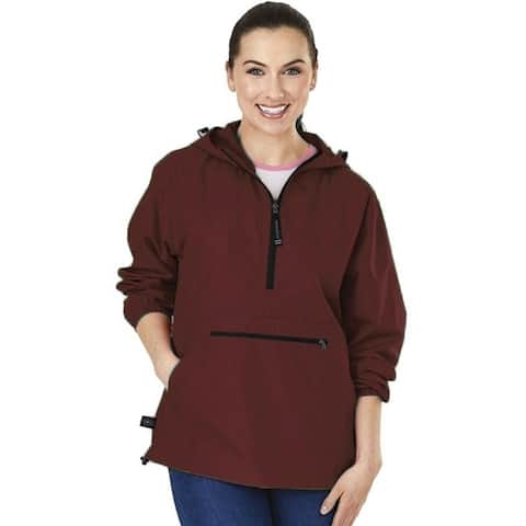 Charles River Apparel Womens Pack-N-Go-Pullover - Maroon Large