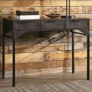 Modern Chic Industrial Design Metal Console Table