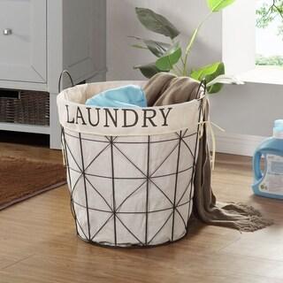 Shop Vintage Collapsible Wire Laundry Basket Hamper On