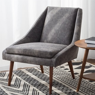 Enzo Oak/Fabric Accent Chair