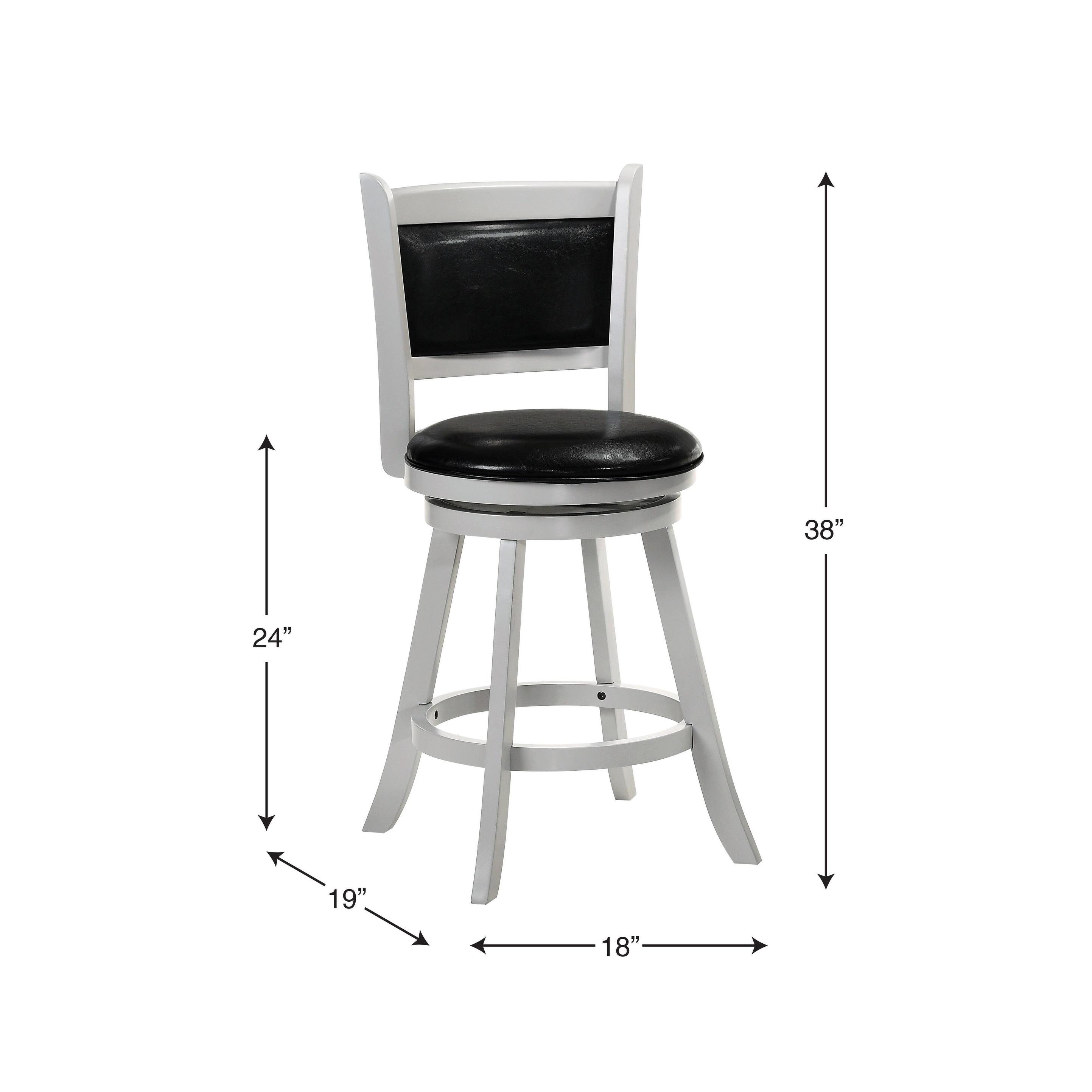 Astounding Charleston 24 Swivel Bar Stool Gray Black Vinyl Theyellowbook Wood Chair Design Ideas Theyellowbookinfo