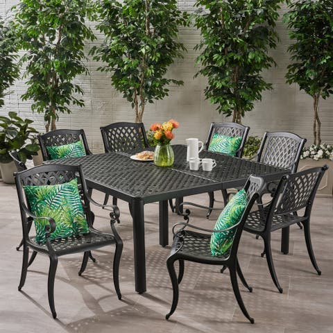 Aviary Aluminum 9-piece Outdoor Dining Set by Christopher Knight Home
