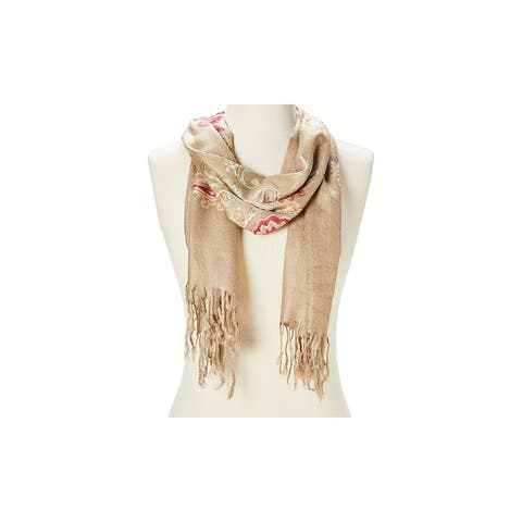 Super Lightweight Scarf Comfy Acrylic Paisley Embroidered Scarves for Women