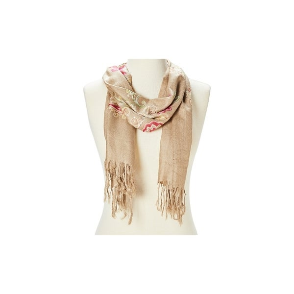 Super Lightweight Scarf Comfy Acrylic Paisley Embroidered Scarves for Women. Opens flyout.