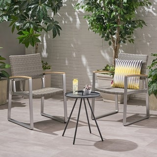 Shop Glasgow Outdoor 2 Seater Aluminum And Mesh Chat Set By