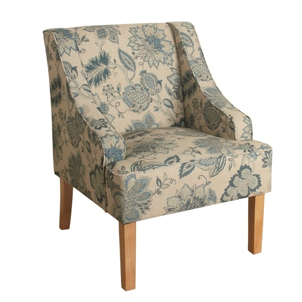 Shop Fabric Upholstered Wooden Accent Chair With Jacobean