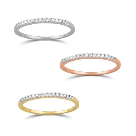 0138fa453 Divina 10KT Gold 1/10ct TDW Diamond Wedding Band. Was. $104.99. $21.00 OFF.  Sale $83.99