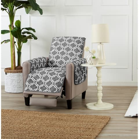Home Fashion Designs Adalyn Collection Printed Reversible Recliner Protector