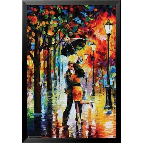 Porch & Den 'Leonid Afremov 'Dance under the Rain' Framed Art Print Poster
