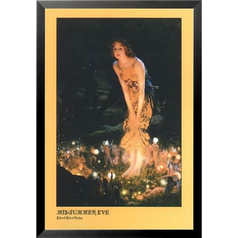 FRAMED Midsummer Eve by Edward Robert Hughes Fantasy Old World Museum Art Print Poster