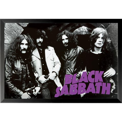 FRAMED Black Sabbath Group 36x24 Music Group Art Print Poster - 36 x 24