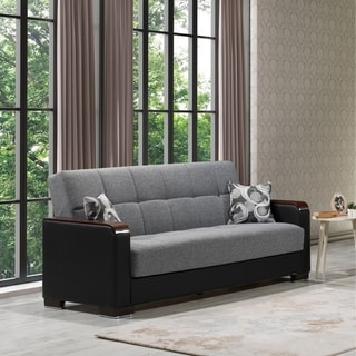 Link to Strick & Bolton Arman Upholstered Sofa Sleeper with Storage - 88 W x 38 H x 37 D Similar Items in Sofas & Couches
