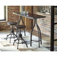 Odium Counter Height Small Space Table and Bar Stool Set