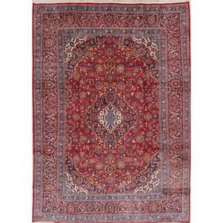 """Vintage Mashad Medallion Traditional Hand-Knotted Persian Area Rug - 11'2"""" x 8'0"""""""