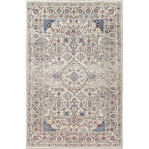 5 X 6 Vintage Kazak Persian Oriental Wool Hand Knotted: Shop Vintage Nain Floral Hand-Knotted Wool Silk Persian