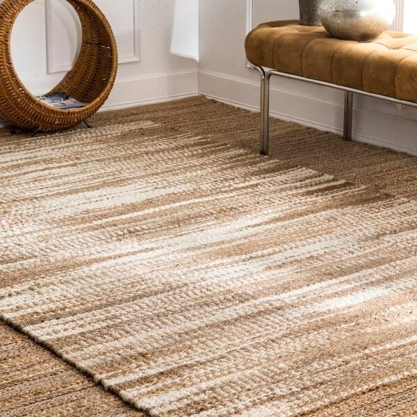 nuLOOM Janna Ombre Contemporary Modern Striped Handmade Area Rug