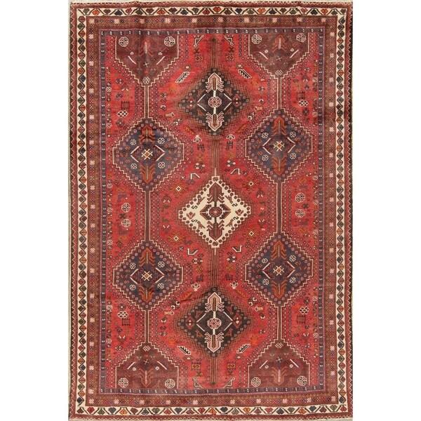 "Vintage Lori Tribal Geometric Hand-Knotted Wool Persian Area Rug - 9'11"" x 6'8"""