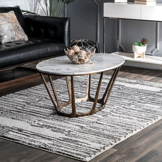 nuLOOM Contemporary Modern Abstract Lines Lonna Area Rug