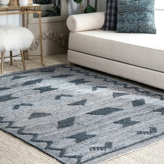The Curated Nomad Newburg Natural Jute Flatwoven Geometric Area Rug