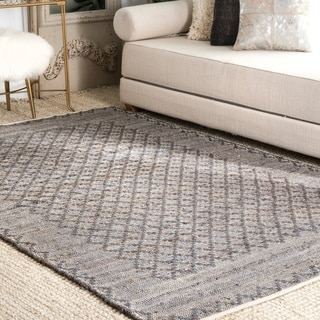 Porch & Den Continental Natural Jute Tribal Pattern Flatwoven Area Rug