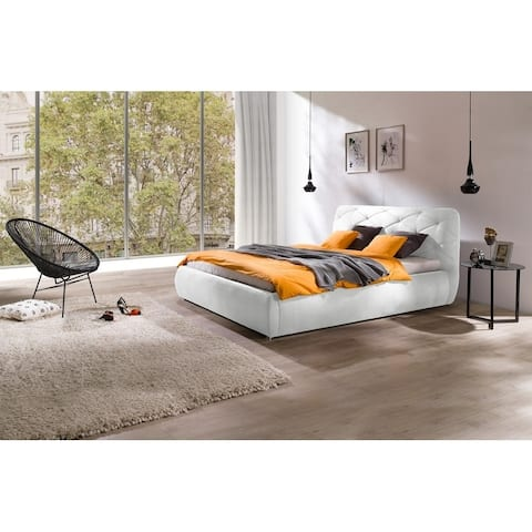 DARIA Platform Bed European King Size with mattress 70.8 x 78.7 inch