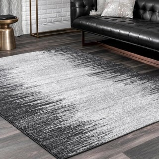 nuLOOM Contemporary Modern Abstract Flames Randee Area Rug