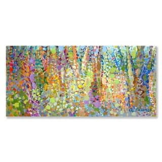 GreenBox 'Abstract Wilderness' by Angelo Franco Canvas Wall Art - 36 x 18