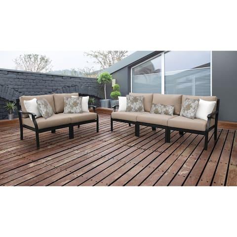 kathy ireland Madison Ave. 5 Piece Outdoor Aluminum Patio Furniture Set 05a