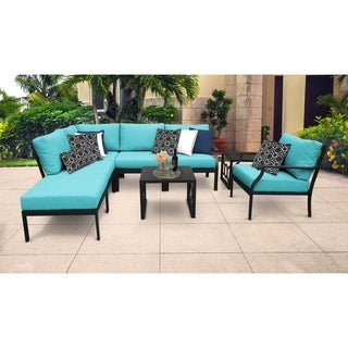 kathy ireland Madison Ave. 8 Piece Outdoor Aluminum Patio Furniture Set 08m