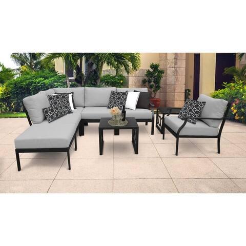kathy ireland Madison Ave. 8 Piece Outdoor Aluminum Patio Furniture Set 08m