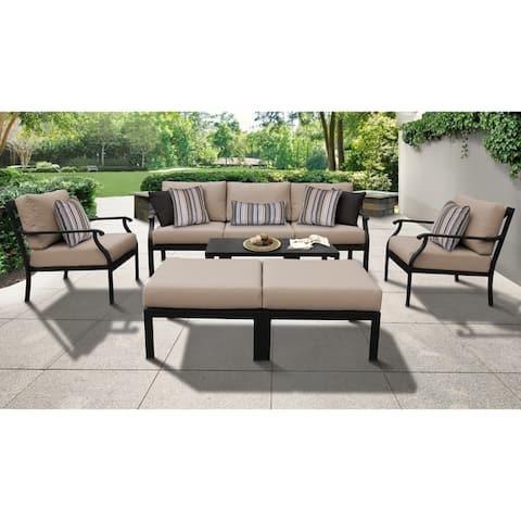 kathy ireland Madison Ave. 8-piece Outdoor Aluminum Patio Furniture Set