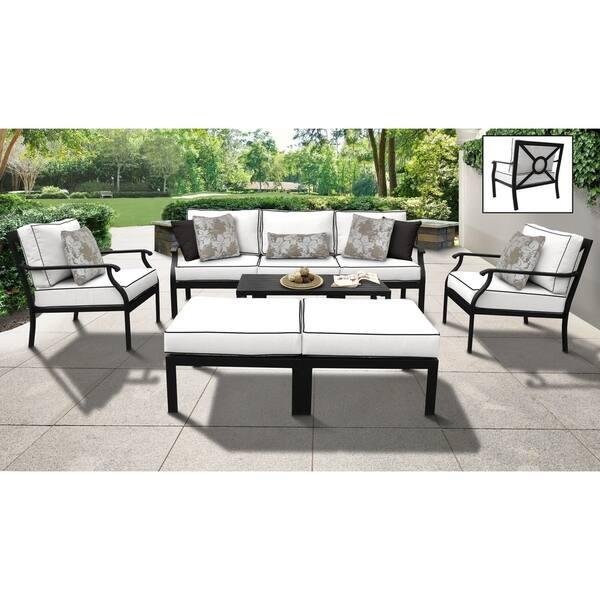 Kathy Ireland Madison Ave 8 Piece Outdoor Aluminum Patio Furniture Set 08c Overstock 27994267 Standard