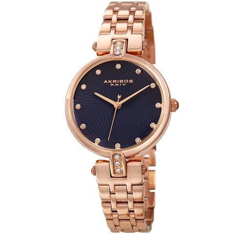 Akribos XXIV Ladies Swarovksi Crystal Elegant Bracelet Watch