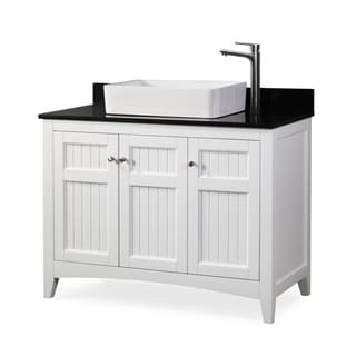 Benton Collection Thomasville White Wood Vessel Sink Bathroom Vanity