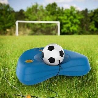 Soccer Rebounder-Reflex Training Set with Fillable Weighted Base, and Ball with Adjustable String Attached by Hey! Play!