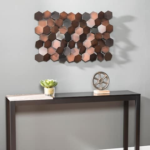 Carbon Loft Hexlen Metal Geometric Wall Sculpture