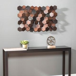 Carbon Loft Hexlen Metal Geometric Wall Sculpture