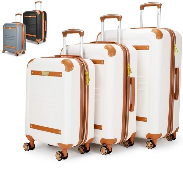 fd44c8f70 Shop 19V69 Italia Vintage Hard Expandable Spinner Luggage Set (3 ...
