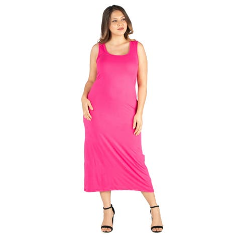 24seven Comfort Apparel Racerback Plus Size Maxi Dress