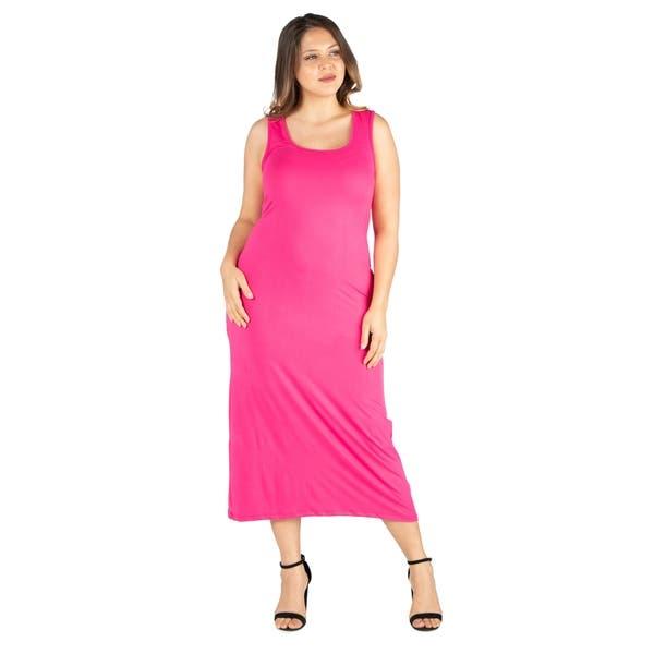 Shop 24seven Comfort Apparel Racerback Plus Size Maxi Dress ...