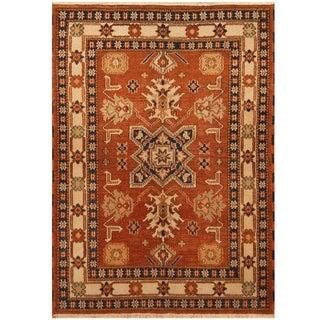 Handmade One-of-a-Kind Kazak Wool Rug (India) - 4'8 x 6'6