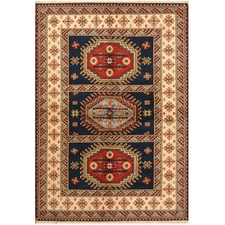 Handmade One-of-a-Kind Kazak Wool Rug (India) - 4'7 x 6'9